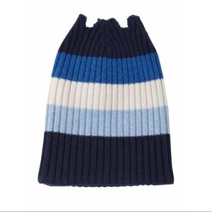 Burberry Ribbed OpenTop Cashmere Colorblock Beanie